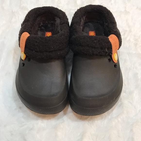 CROCS Other - Kids Crocs Fleece Brown